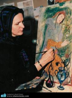 Muslim Woman and Art - Painting