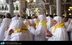 مسلمان خواتین زیارت کے لئے روانہ اسلامی حجاب میں - ۲۰۴