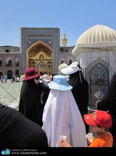 Muslim woman visiting Holy places of Islam