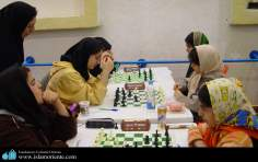 Iranian muslim women takiing part on National Chess Competition