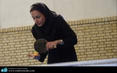 Islam y deporte / Mujer musulmana en competencia de Tennis de mesa - Irán