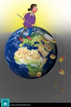 Mundo sin armas (Caricatura)