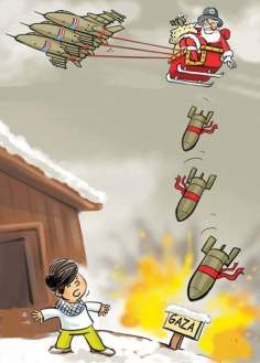 Navidad en Palestina (Caricatura)