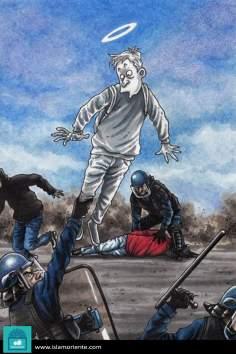 Ni muerto te escapas (caricatura)
