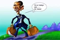 ¡Obama ordena el cierre de su Administración pública! (caricatura)