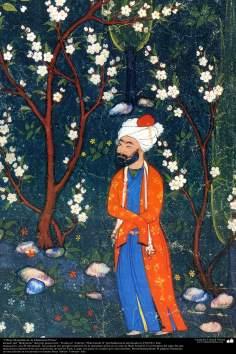 """«Chefs-d'œuvre de la miniature persane"""" - prises de """"Shahname"""" le grand poète iranien """"Ferdowsi"""" Modifier """"Shah Ismail II"""""""