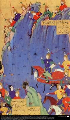 Obras Maestras de la Miniatura Persa- Los Iraníes observan adelanto de los turanies