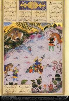 Meisterstücke der persischen Miniatur, entnommen von Shahname vom größten, iranischen Peoten Ferdowsi - Shah Tahmasbi Edition - 22 - Islamische Kunst