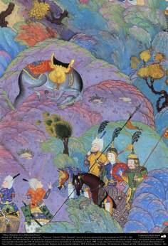 Obras-primas da miniatura persa - Extraído do épico Shahnameh do grande poeta iraniano Ferdowsi, edição Shah Tahmasbi - 25