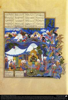 Masterpieces of Persian Miniature, taken from Shahname by the great iranian poet Ferdowsi - Shah Tahmasbi Edition - 8