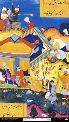 """اسلامی فن - """"روضۃ الانوار"""" نام کی تاریخی کتاب سے ایک مینیاتور پینٹنگ (تصویرچہ) - ۱۶"""