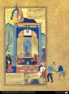 """Chefs-d'œuvre de la miniature persane - """"L'histoire du Prophète Abraham (P)"""" - le livre """"Bustan« poète »Sa'di"""" (9)"""