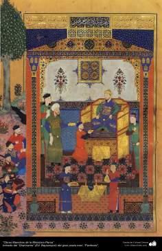 الفن الإسلامية - الروائع المنمنمة الفارسي- مأخوذة من شاهنامه فردوسی – بایسنقری 1