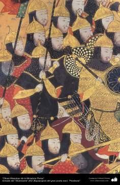 Art islamique, chef-d'oeuvre de miniature persane, prises Shahnameh, par Ferdowsi, Ed. Baysanqiri - 23