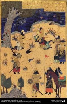 الفن الإسلامية - الروائع المنمنمة الفارسي- مأخوذة من شاهنامه فردوسی – بایسنقری 3