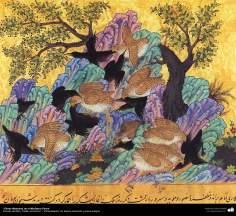 الفن الإسلامي – تحفة من المنمنمة الفارسية – كليلة ودمنة - 1