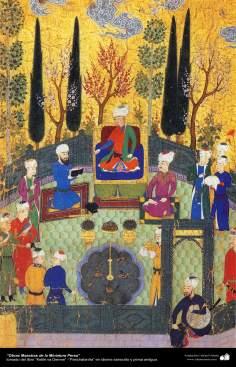 الفن الإسلامي – تحفة من المنمنمة الفارسية – كليلة ودمنة - 6