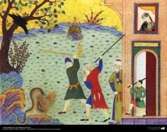 الفن الإسلامي – تحفة من المنمنمة الفارسية – كليلة ودمنة - 8
