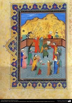 "Arte islamica-Capolavoro di miniatura persiana-Libro di ""Khamse"" o ""Panj-Ganj"",poeta ""Nezami Gangiavi""(1141-1209)-8"