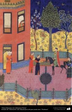 الفن الإسلامية - الروائع المنمنمة الفارسي- مأخوذة من شاهنامه فردوسی – بایسنقری 33