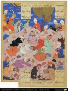 """Obras maestras de la Miniatura Persa, tomado del libro """"Khamse"""" o """"Panj Ganj"""" del poeta """"Nezami Ganjavi"""" - 14"""