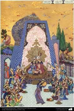 Arte islamica-Capolavoro di miniatura persiana-Complesso di Cupola azzurra-Opera di Muhammad Taividi-1970