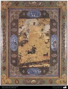 اسلامی فن - فنکار حسین ختایی کی ایک مینیاتور پینٹنگ (تصویرچہ)، ایران - سن ۲۰۰۶ء - ۳