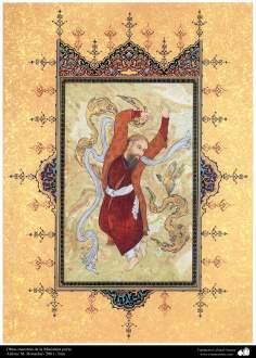 اسلامی فن - استاد ہنرکار کی ایک مینیاتور پینٹنگ (تصویرچہ)، ایران - سن ۲۰۰۱ء - ۶