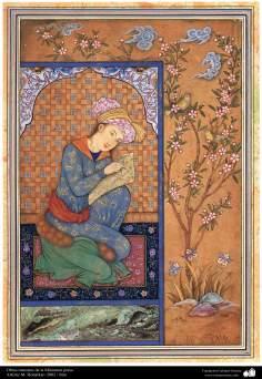Arte islamica-Capolavoro di miniatura persiana-Opera di maestro Honarchar,2002-4