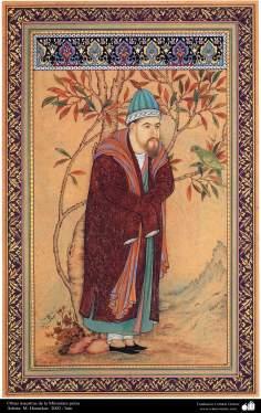 Arte islamica-Capolavoro di miniatura persiana-Opera di artista Honarchar-2002-2