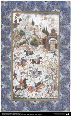 イスラム美術( MirzaAqa Emami氏によるペルシャミニチュア傑作)-3