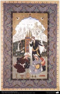 イスラム美術( MirzaAqa Emami氏によるペルシャミニチュア傑作)-7