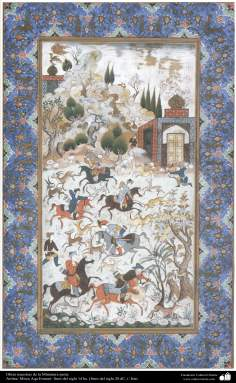Master pieces in persian miniature, Artist: Mirza Agha Emami - Iran - 3