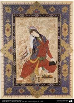Art islamique, chef-d'oeuvre de miniature persane, par professeur Mirza Aga Imami