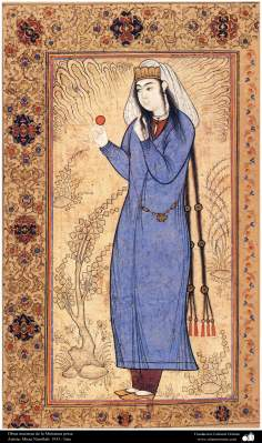 اسلامی فن - فنکار میرزا نوراللہ کی ایک مینیاتور پینٹنگ (تصویرچہ)، ایران - سن ۱۹۳۵ء - ۷