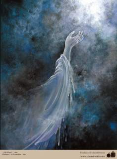 イスラム美術(マフムード・ファルシチアン画家のミニチュア傑作「神様ヘ」
