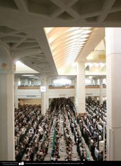 Collective prayer at the shrine of Fatima Masuma in the holy city of Qom