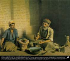 Goldsmith Baghdad - Oil on canvas, (around 1902) - Artist : Kamal ol-Molk