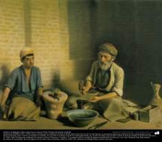 Orfebre de Bagdad- Óleo sobre lienzo, (hacia 1902); Pintura de Kamal ol-Molk