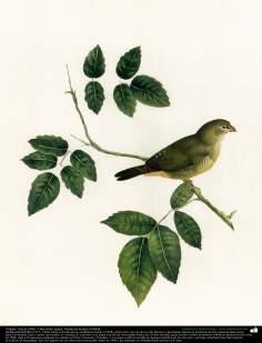 """""""Vogel"""" (In die Richtung 1900) - Gemälde von Kamal ol-Molk (4) - Islamische Kunst"""