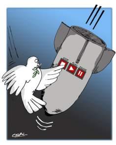 Pour la paix dans le monde(caricature)
