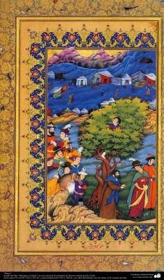 """Miniature, """"Muraqqa-e Golshan"""" - 1605 et 1628 AD."""