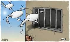 Paz en el cárcel (Caricatura)