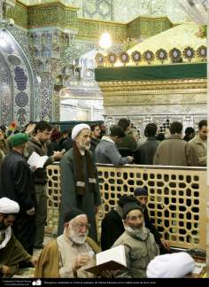 Carrying pilgrims visiting the shrine of Fatima Masuma in the holy city of Qom,
