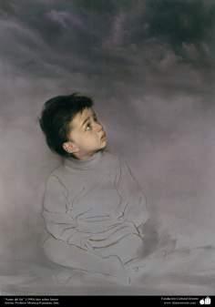 "Painting ""Before the end"" (1990) - Artist: Professor Morteza Katouzian."