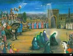 Исламское искусство - Традиционная живопись , настенная живопись , рисование акварелью на гипсе - Стиль кафе -37