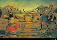 الفن الإسلامي - الرسم التقليدي، الرسم الجداري - الرسم بالالوان المائية علي الجص - من وحي نمط مقهى (43)