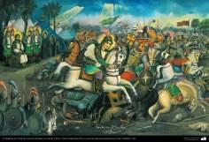 """Pintura tradicional, fresco y mural de inspiración popular persa, estilo """"Cafetería""""- Irán (40)"""