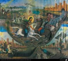 """Pintura tradicional, fresco y mural de inspiración popular persa, estilo """"Cafetería""""- Irán (41)"""