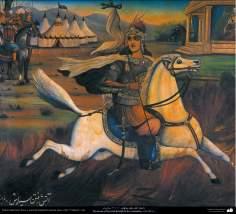 Pintura tradicional, fresco y mural de inspiración popular persa, estilo Cafetería - 33